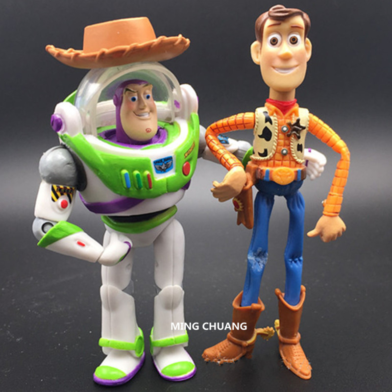 Cartoon Toy Story Sherif Woody Buzz Lightyear Plastic Spaceman 10M Action Figure Collectible Model Toy BOX D512 4pcs set anime toy story 3 buzz lightyear woody jessie pvc action figure collectible model toy kids gifts 14 5 18cm zy468