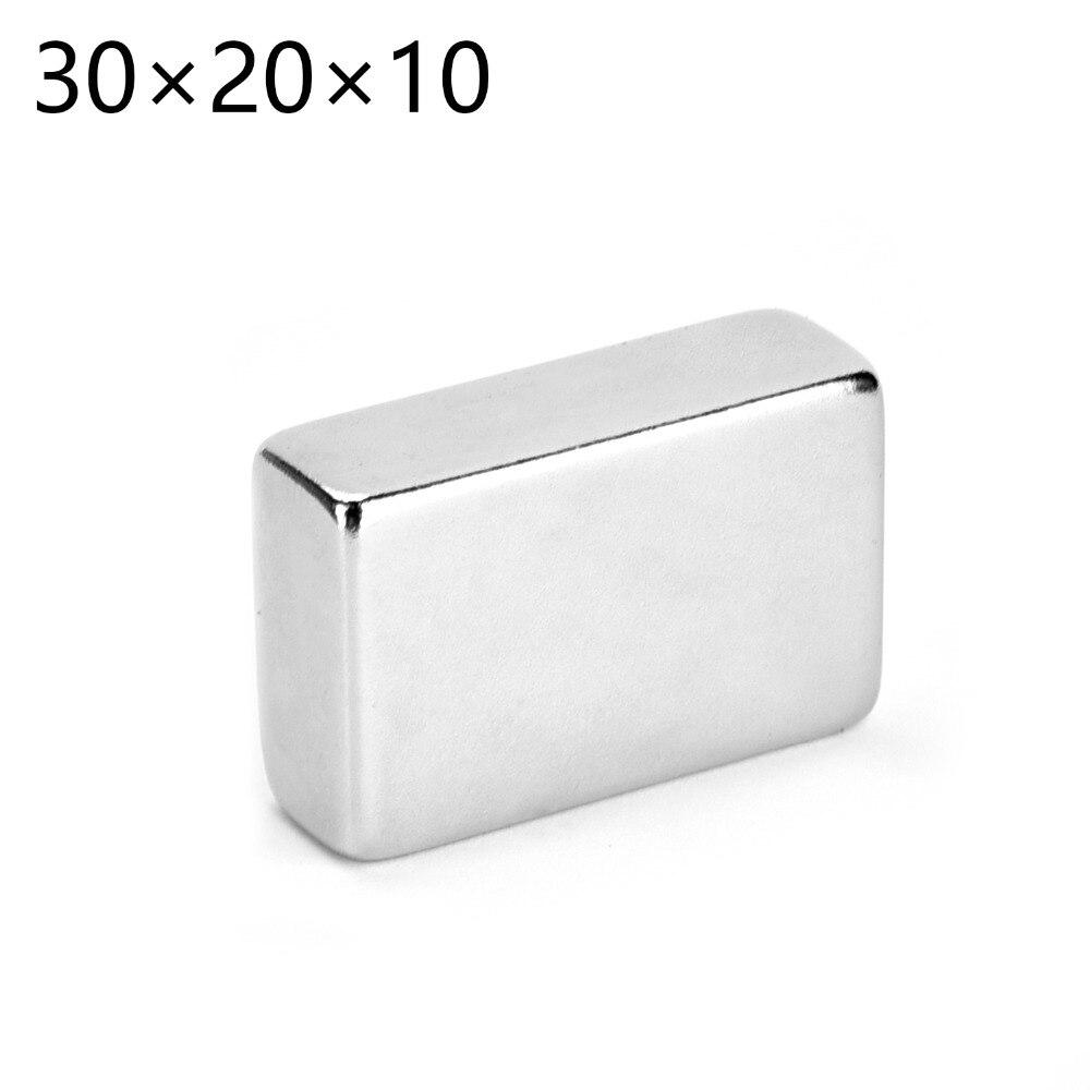 New 1pcs x Big Super Strong Cuboid Block Magnet Rare Earth Neodymium N50 30 x 20 x 10 mm 30*20*10MM Free shipping