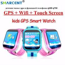 SMARCENT Q750 GPS smart uhr Q100 baby uhr mit Wifi GPS SOS Anruf Location Device Tracker für Kinder Kid Safe GPS Uhr