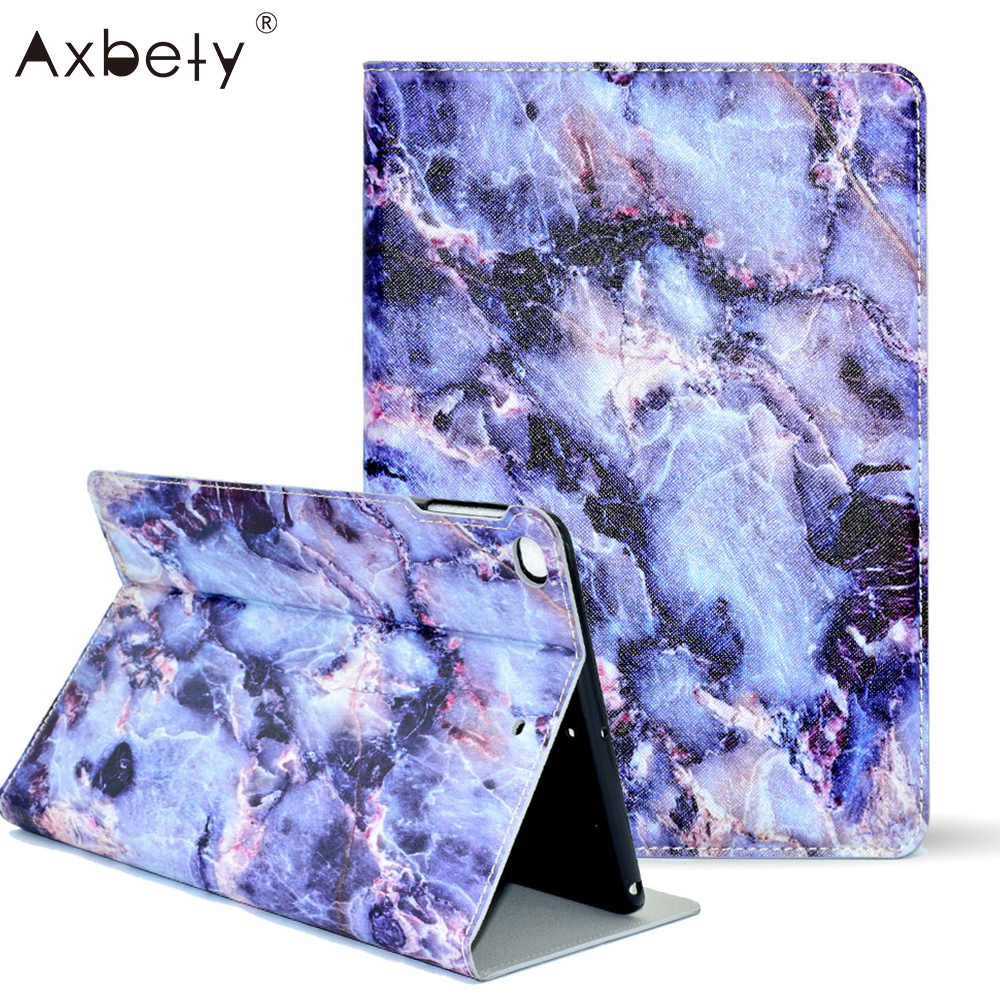 Marble Stone Pattern Leather Cover For iPad Air 2 Case Fashion Matte Soft Magnet Flip Cover For iPad 6 Auto Sleep Wake Up Stand