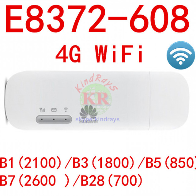 US $41 4 31% OFF|E8372 E8372H 608 4G wifi stick with double TS9 antenna  connector change IMEi firmware 21 180 07 00 00-in Network Cards from  Computer