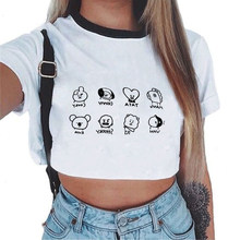 New Kpop ARMY BTS Member Self Portrait Printed Crop Top hoodies Sweatshirts Women Shirts Bangtan Boys BT21 Tops Cropped Clothes(China)