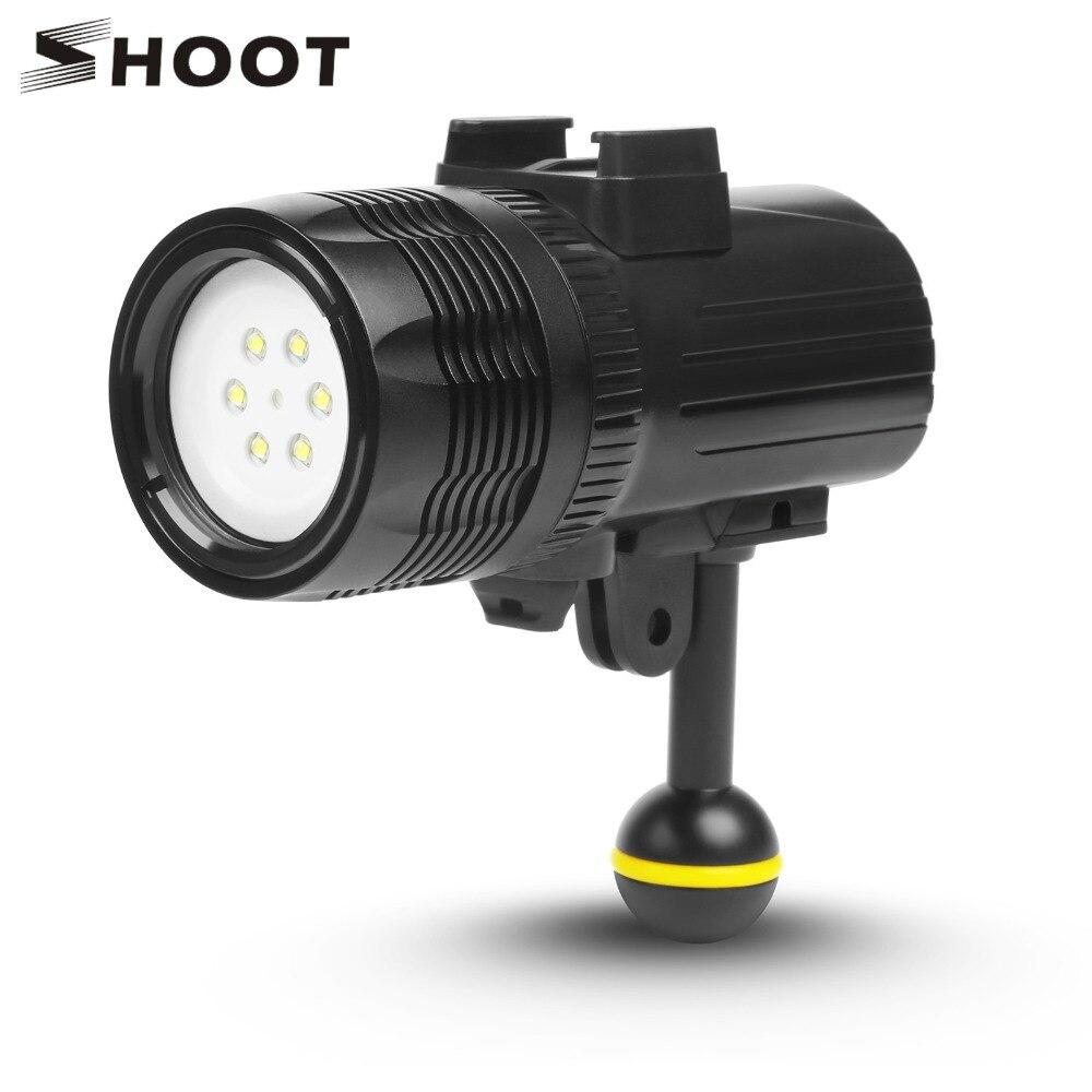 SHOOT 1000LM Underwater Diving Flashlight Torch Light For GoPro Hero 7 6 5 xiaomi mija 4