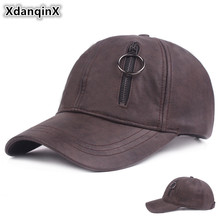 Autumn And Winter Men Women Hat Faux Leather Baseball Cap Novelty Personality Hip Hop Caps Adjustable Size Snapback Couple Hats