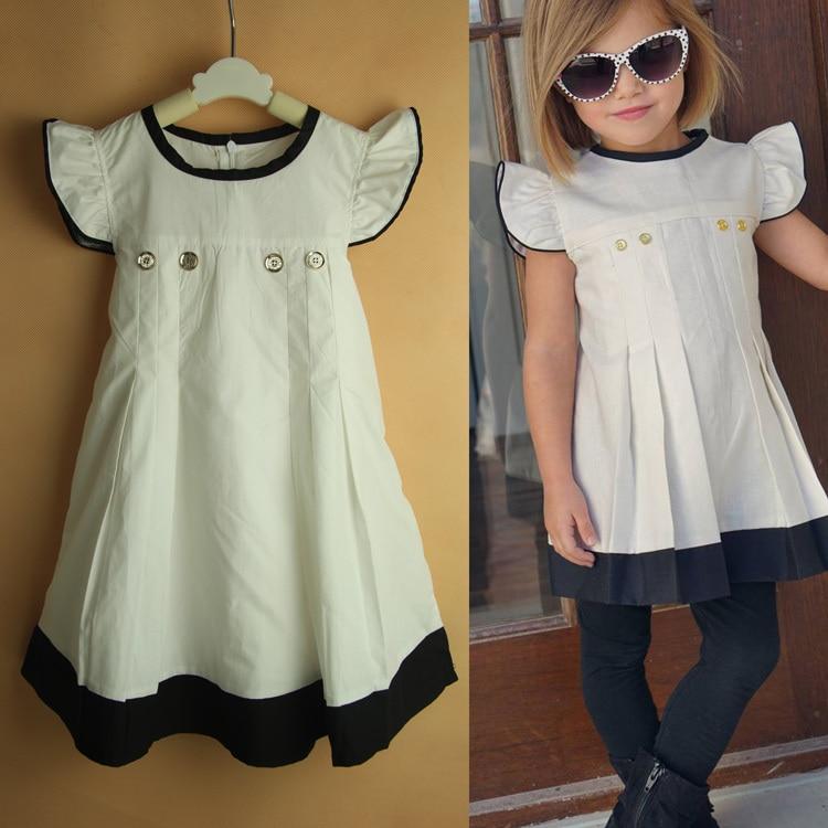 Aliexpress Buy Tunic Girls Dresses Cotton Short