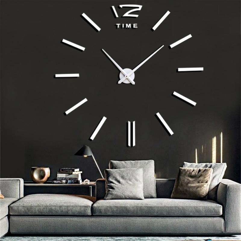 Wall Watch Quartz Clocks Fashion Watches 3d Real Big Wall Clock Rushed Mirror Sticker Diy Living Room Decor Modern Wall Clock