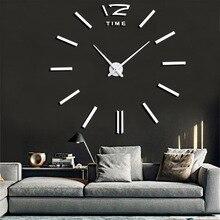Wall Watch Quartz Clocks Fashion Watches 3d Real Big Clock Rushed Mirror Sticker Diy Living Room Decor Modern