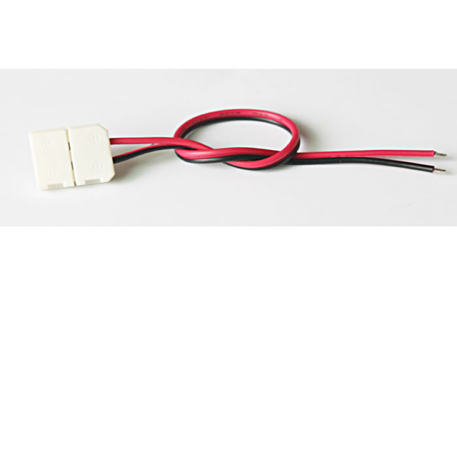 10pcs/lot, For LED strip 10mm 2pin for 5050 5630 single color strip LED connector, PCB board connector wire