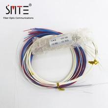 10 adet/grup fiber FBT splitter konnektörü olmadan 0.9mm 70/30 75/25 80/20 85/15 90/10 95/5 dengesiz fiber bağlayıcı