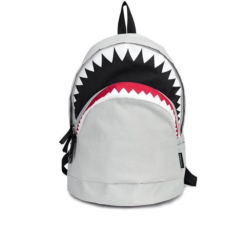 Cool Schoolbag Big Shark Cartoon Backpack Black Bookbags Fashion primary school Backpacks Boys Rucksack Bagpack new shark backpack women black bookbags mochila colegio fashion primary school backpacks cartoon boys rucksack men bagpack bolsa
