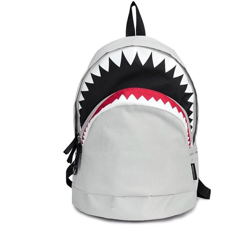 Cool Schoolbag Big Shark Cartoon Backpack Black Bookbags Fashion primary school Backpacks Boys Rucksack Bagpack рюкзак sprayground pixel shark backpack b188 multicolor