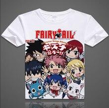 Nuevo Anime Fairy Tail Natsu Dragneel Cosplay Camiseta de Moda T-shirt Tops Camiseta Para Hombres Mujeres Envío gratis