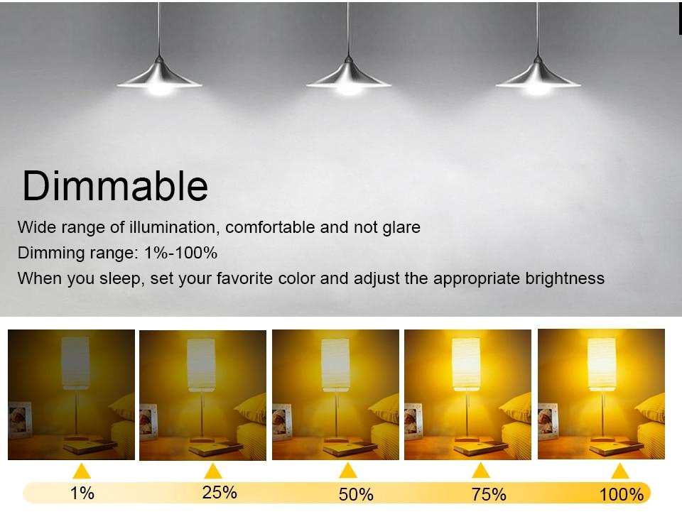 85-265V E27 LED Lamp RGB 15W Bluetooth APP Wifi Control Smart Bulb 10W RGBW RGBWW Light Bulb IR Remote Control Home Lighting (9)