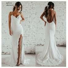 Женское свадебное платье русалка неформальное цвета слоновой