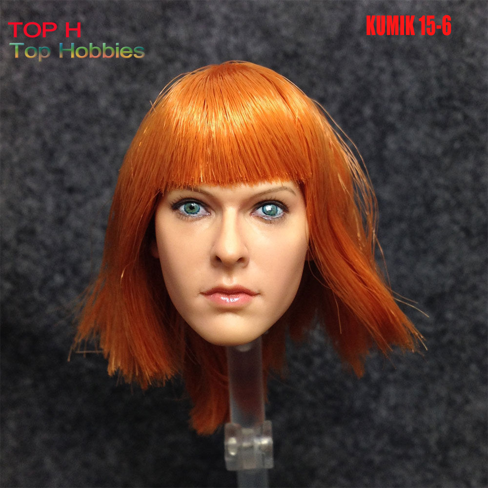 KUMIK 1/6 Head Sculpt Carving KM15-6 Female Girl Doll Fit 12 Inch Phicen/Jodoll Action Figure Body Toys Milla Jovovich 1 6 scale female head shape for 12 action figure doll accessories doll head carved not include body clothes and other km15