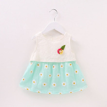 WYNNE GADIS Baby Girls Summer Sleeveless Sunflower Cute Princess Party Tutu Dress Kids Infant Sundress vestido infantil