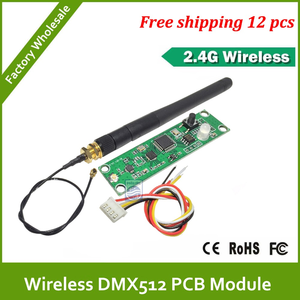 DHL Fast Doprava zdarma DC5v PCB DMX bezdrátový modul