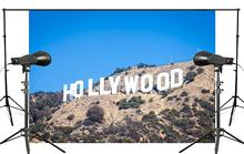 7x5ft Klassieke Hollywood Base Fotografie Achtergrond landschap Achtergrond Fotostudio Vakantie achtergrond