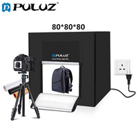 PULUZ 80*80*80cm Lightbox Foldable Studio Box Softbox Lightbox 80W White Light Box Mini Photo Studio Shooting Tent Box Kits