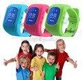 Reloj del teléfono inteligente kids tracker gps GSM reloj de pulsera anti-perdida smartwach niños guardia bebé monitor sos GPRS ubicación Q50
