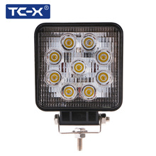 TC-X Auto LED Wholesale 9X3W 27W Work Light SUV Flood Combo Beam Truck Trailer LED Worklights Waterproof Housing Lamp Worklamp
