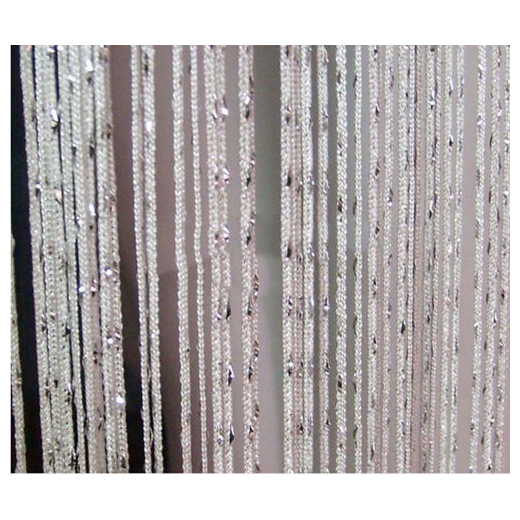 Botique Room Door Window Beads Crystal String Curtain Beads Wall Panel Fringe Divider White
