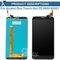 LCD Display For Alcatel One Touch Idol 2S 6050 6050Y OT6050 Touch Screen Digitizer Assembly BLACK +tools