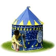 Nouvelle Arrivée Portable Bleu Rose Prince Tente Pliante Enfants Enfants Garçon Castle Cubby Maison de Jeu Pour Enfants Meilleur Cadeau Aucun Océan Balle