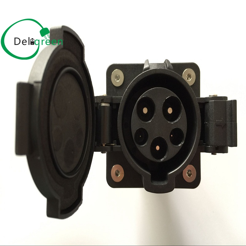 все цены на 16A socket Original SAE J1772 AC Inlet Plugs Best Quality  120V/240V AC Electric Plug without Cable for EV/Electric Car онлайн