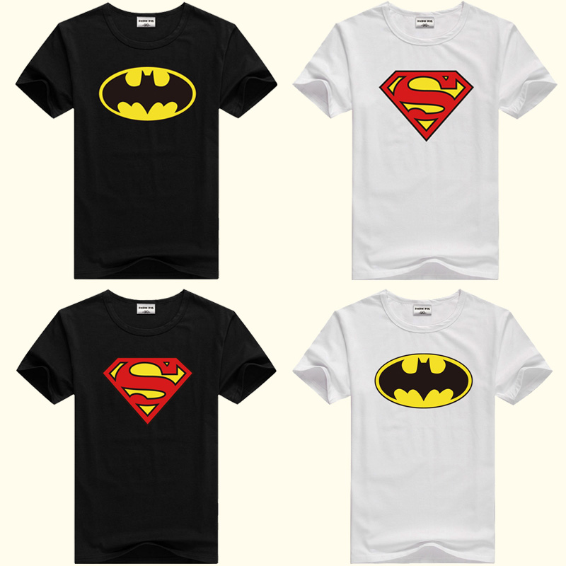DMDM PIG Batman Superman Short Sleeve T-Shirts For Boys Girl Tops Kids Clothing TShirt Size 2 3 4 5 Years Baby Clothes Tee