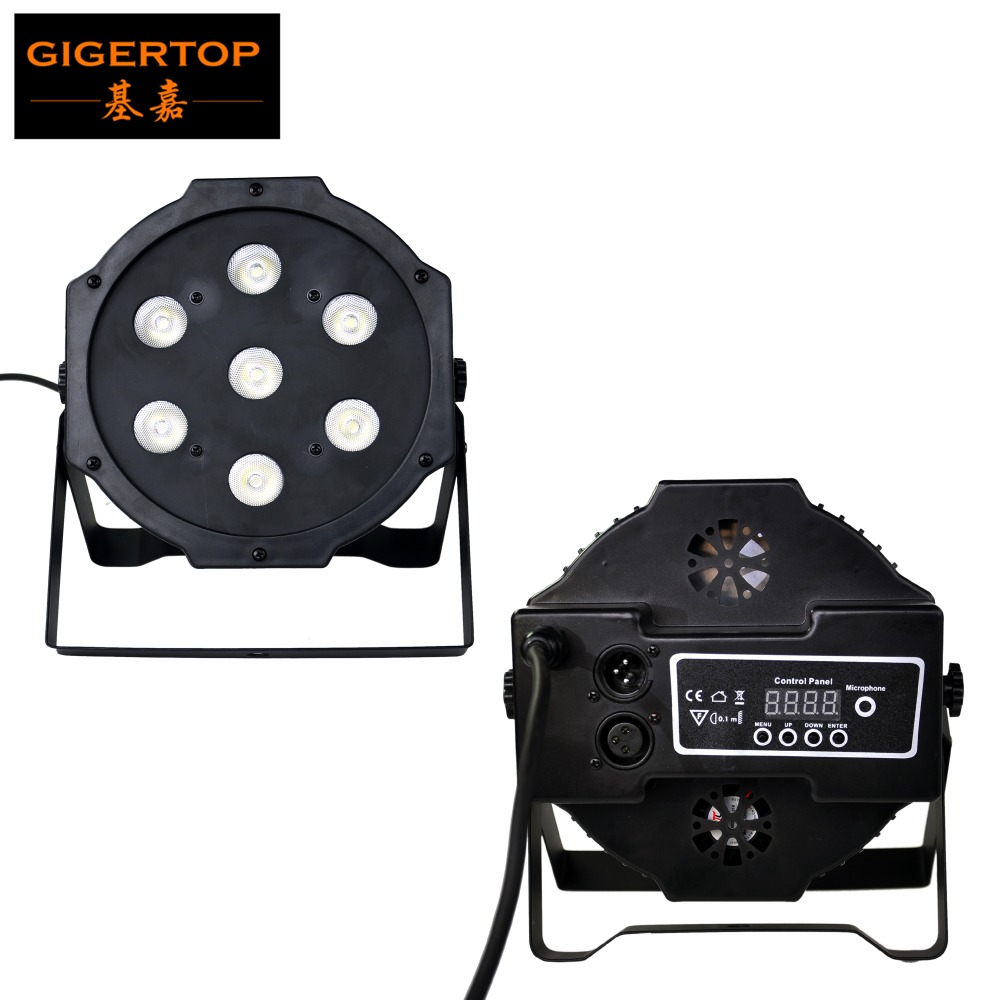 Gigertop TP- 7x12W RGBW 4IN1 Color Flat Led Par Light Building Power Cable Cheap Price 110V-220V