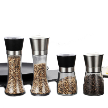 Twins 304 stainless steel hand pepper grinder sesame seasoning grinding powder bottle spice kitchen tools