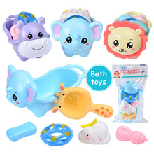 6PCS/set Baby play toy set cartoon animal bath water for baby gifts