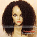 Heavy Density Black Hair Afro Kinky Curly Synthetic Lace Front Wig For Black Women Heat Resistant Synthetic Wigs In Stock