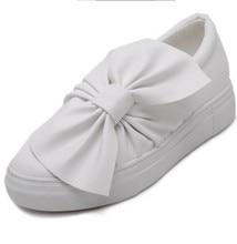 Noir gris blanc femme marchant bateau chaussures femmes grand papillon noeud arc en cuir mocassins formateurs oxford espadrilles zapatos mujer