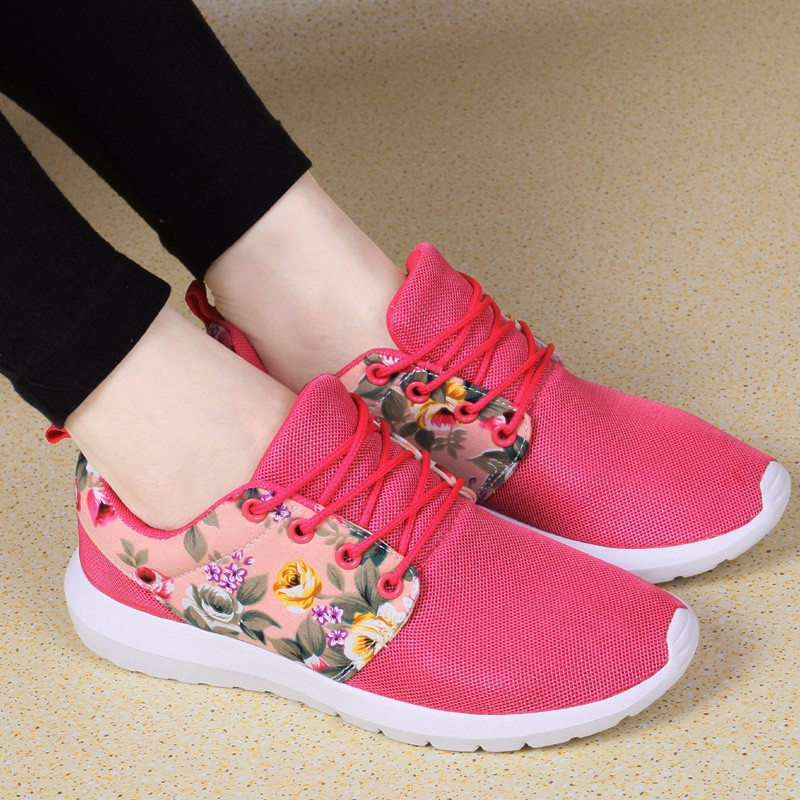 KUYUPP Fashion Breathable Print Flower Women Trainers Casual Shoes 2016 Summer Mesh Low Top Shoes Zapatillas Deportivas YD95 (31)