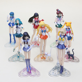 japanese action figure anime cute carton Interchangeable Face Sailor Moon figure girls toys