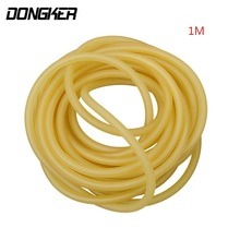 DONGKER 1M Length 2mm x 5.5mm Hunting Shooting Slingshots Natural Latex Rubber Tube Band Outdoor Slingshot Catapult Elastic Part