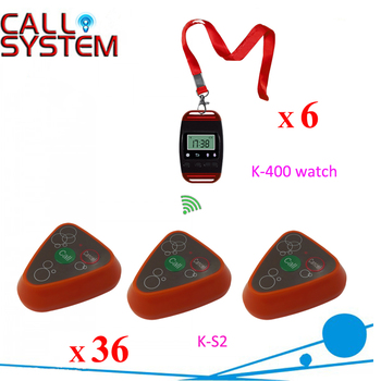 Ycall Service equipments 6 watches 36 transmitters Restaurant order device