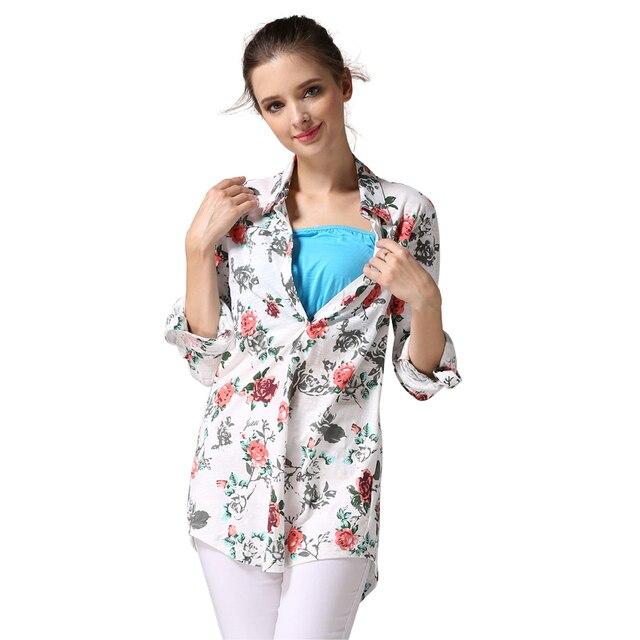 MamaLove Мягкая Хлопчатобумажная Ткань Моды Одежда Для Беременных Грудное вскармливание рубашки Кормящих топы Топы Материнства для Беременных Женщин