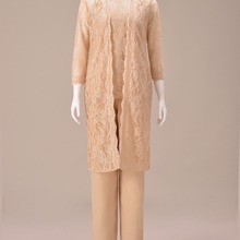 Three Piece Muslim Lace Jacket Outfit Mother Of the Bride