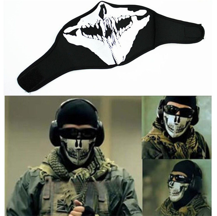 Cycling bicycle Ski Skull Half Face Mask riding moto face protect part Ghost Scarf Multi racing face protection motorcycle mask