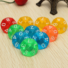 Mayitr 10 pcs / set Transparan 10-Sided Dice D10 RPG untuk Dungeons and Dragons Playing Games