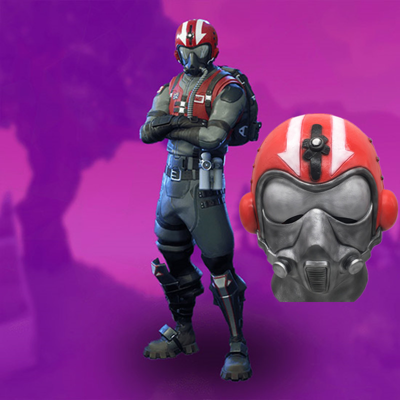 ZSQH Fortress night fortnited Battle Royale Wingman Red mask Halloween Cosplay fortnight latex mask Adult Helmet kids children