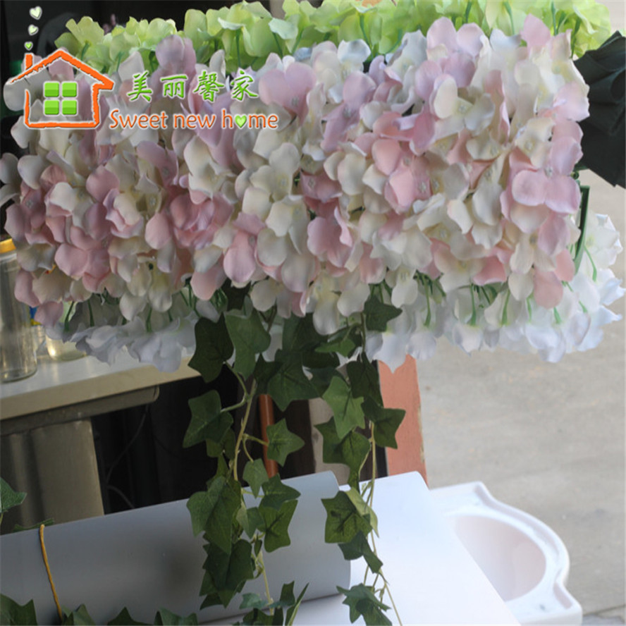 Sweet New Home Wedding Silk Flower Hydrangea Floral Arrangement