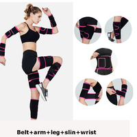 9pcs/pack Women Shapers Sweat Sauna Slimming shirt Hot Body Shaper Arms Sleeves Leg Sleeves Thigh Trainer Weight Loss Suits