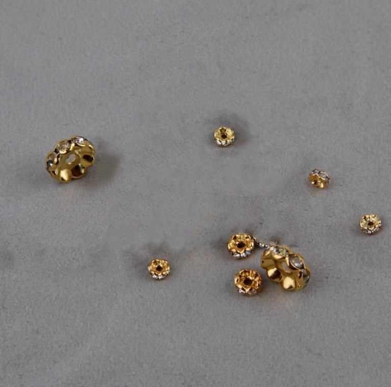 100 قطعة 5-10 مللي متر مطعمة حجر الراين فصل الخرز Septa صالح أساور/القلائد/أقراط موضة لتقوم بها بنفسك مجوهرات اكسسوارات