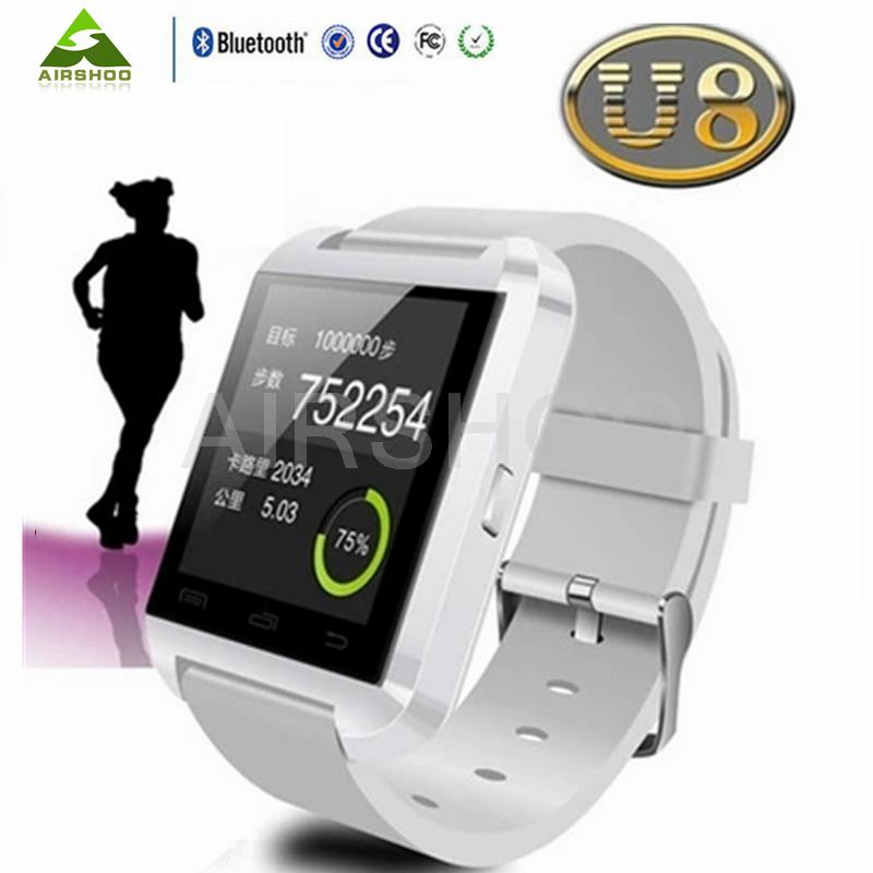 5Pcs Wholesale font b Smartwatch b font U8 Sportwatch Relogio reloj Bluetooth Montre Connecter Android Orologio