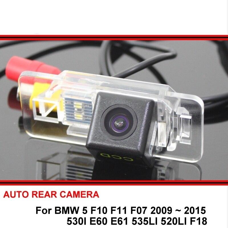 For BMW 5 F10 F11 F07 530I E60 E61 535LI 520LI F18 Car Rearview Parking Reverse Backup Rear View Camera Night Vision HD CCD