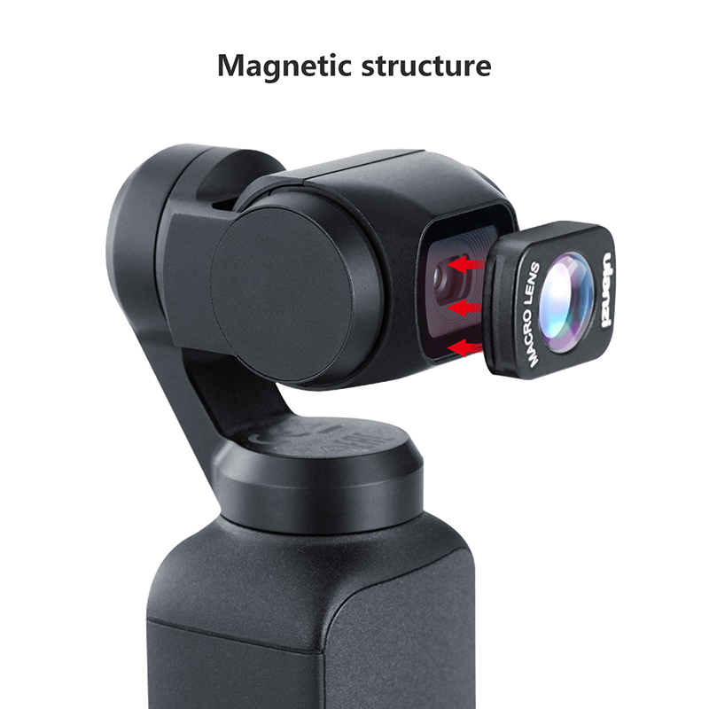 Ulanzi OP-5 OP-6 Wide Angle Macro Lens for Dji Osmo Pocket 10X HD 4K Macro Lens Gimbal Accessories Magnetic Lenses